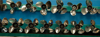 good selection of outboard propellers