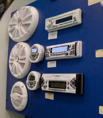 several marine stereos and sound systems for sale