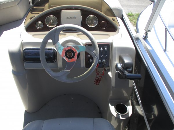 Well designed helm with a Garmin GPS 2014 South Bay 20C for sale in INVERNESS, FL