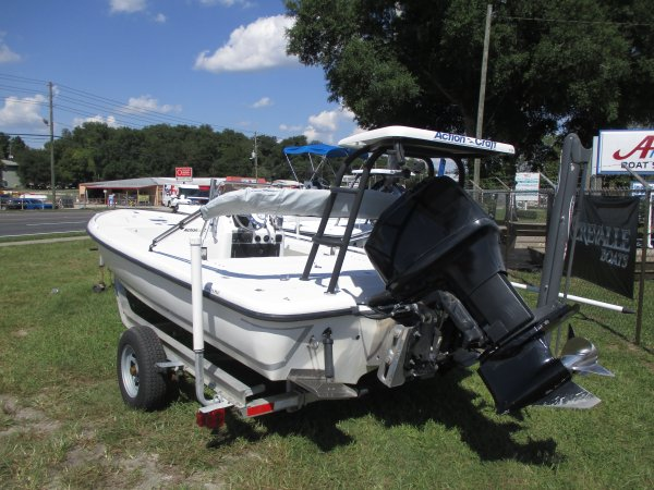 Mercury 150 and Polling Platform 2003 Action Craft 1802 Flats Pro for sale in INVERNESS, FL