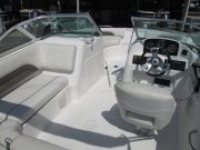 Aft cockpit with a side helm and plenty of seating 2013 Hurricane Sun Deck 187 for sale in INVERNESS, FL