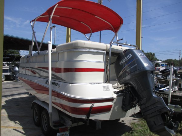 Bimini top in red to keep you out of the sun 2008 Southwind 2010L for sale in INVERNESS, FL