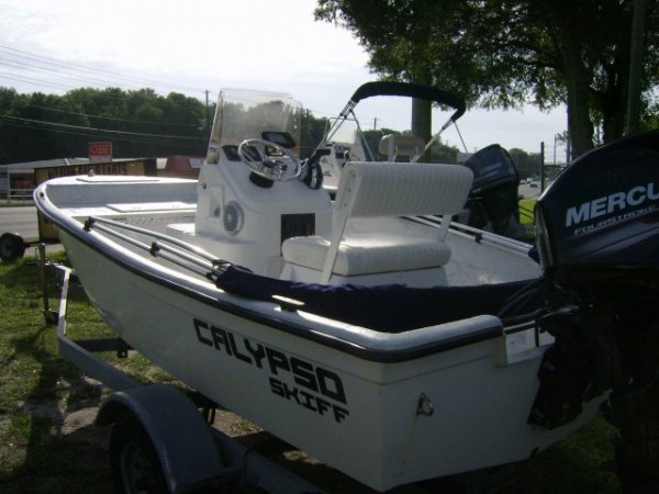 Used 2016  powered Power Boat for sale 2016 Boston Whaler Calypso Skiff 16' for sale in INVERNESS, FL