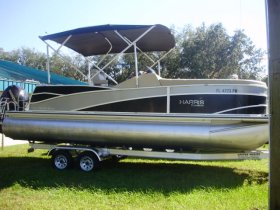 2013 Harris Flotebote 230 Grand Mariner for sale at APOPKA MARINE in INVERNESS, FL